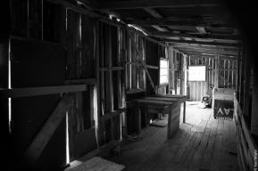 Shearing shed, Island Hill Run, Mason Bay
