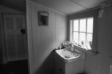 Homestead washroom, Island Hill, Mason Bay
